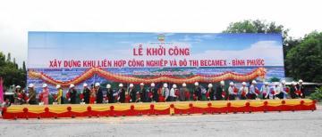 Khởi công khu liên hợp Becamex - Bình Phước có vốn gần 1 tỷ USD